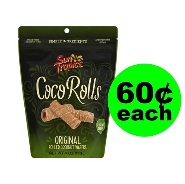 Publix Deal: 🥥 60¢ Sun Tropics Coco Rolls Coconut Wafers (After Ibotta)! (5/11-5/24)
