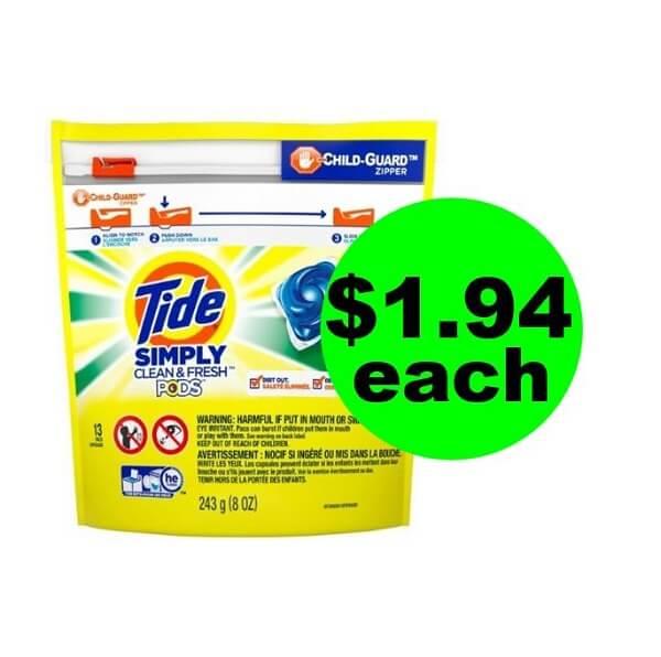 CVS Deal: 👖 $1.94 Tide Simply Pods! (5/19-5/25)