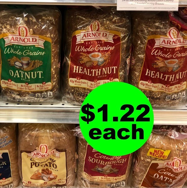 "Publix Deal: ""Clip"" For $1.22 Arnold Whole Grain Bread! (6/26-7/2 Or 6/27-7/3)"