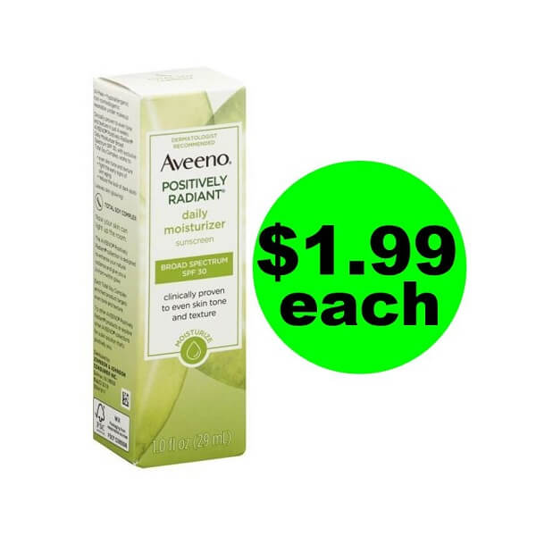 Publix Deal: Print For $1.99 Aveeno Moisturizer Plus Sunscreen (Save 67% Off)!