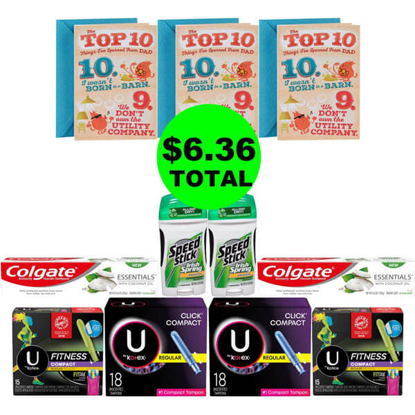 CVS Deal Idea: For $6.36 Total, Get (3) Cards & (8) Personal Care Products (Save 81% Off, After Ibotta)! (6/9-6/15)
