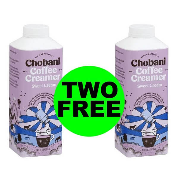 Sneak Peek Publix Deal: (2) FREE Chobani Creamers (After Rebate)! (6/3-6/9 Or 6/4-6/10)
