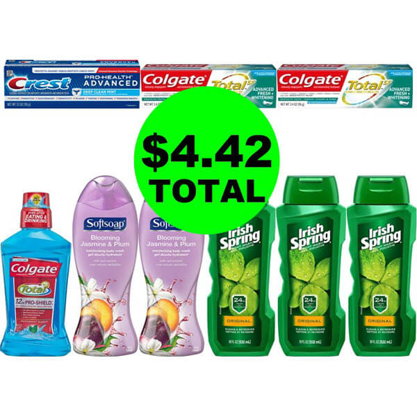 CVS Deal Idea: For $4.42 Total, Get (4) Oral Care Products & (5) Body Washes! (7/21-7/27)