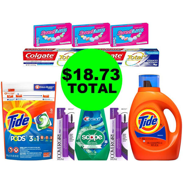 CVS Deal Idea: For $18.73 Total, Get (3) Oral Care Products, (3) Candies, (2) Cosmetics, & (2) Tide Products! (8/18-8/24)