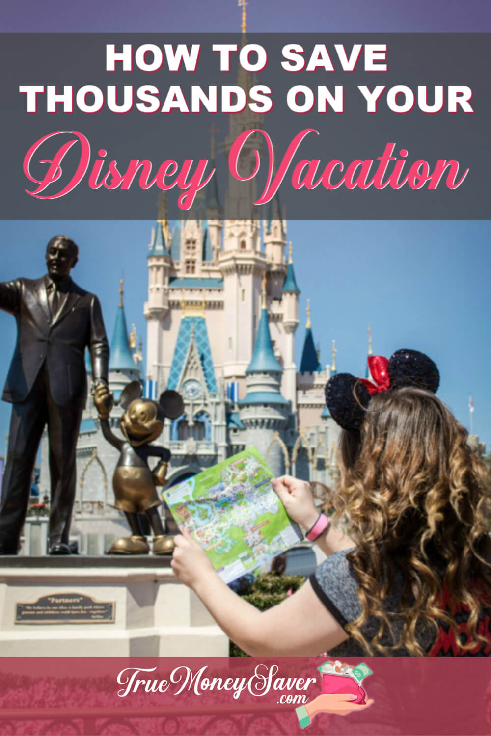 Disney can be so expensive. You can enjoy a Disney vacation on a budget and you won\'t need a lot of money either if you just follow these tips! #truecouponing #disney #familyvacation #savings #debtfree