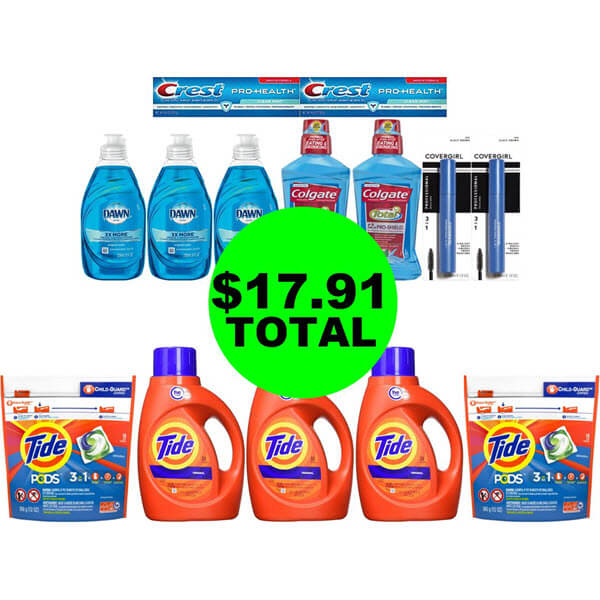 CVS Deal Idea: For $17.91 Total, Get (8) Household Products, (4) Oral Care & (2) Mascaras! (9/15-9/21)