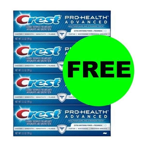 Sneak Peek CVS Deal: 4 FREE + $1.04 Money Maker On Crest Toothpastes! (12/15-12/21)