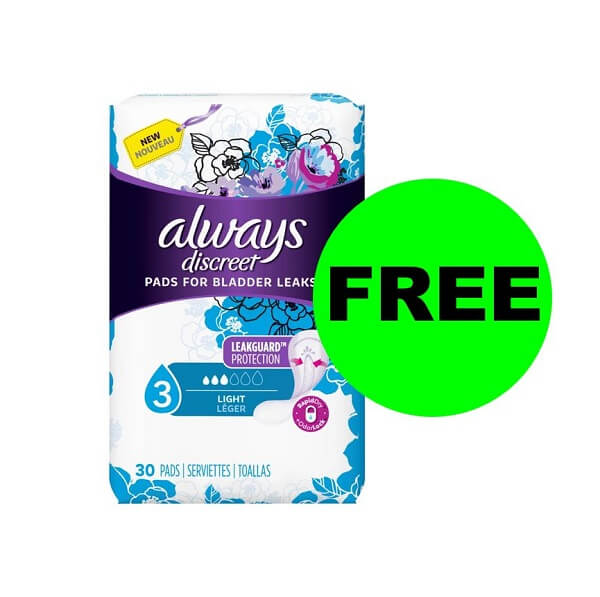 Publix Deal: FREE Always Discreet Pads!