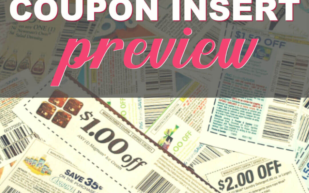 11/24/19 Coupon Insert Preview: (1) SmartSource, (1) P&G