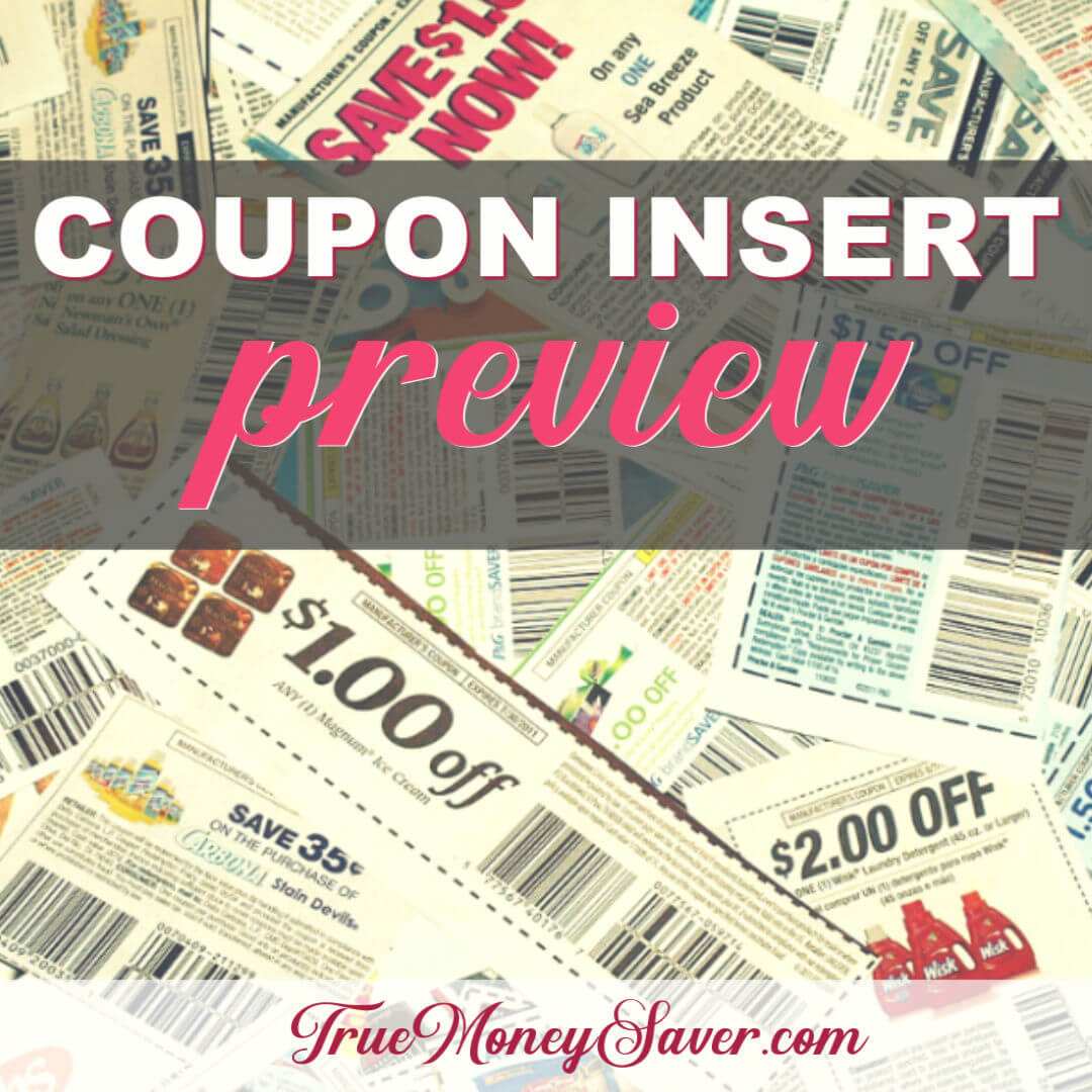 12/29/19 Coupon Insert Preview: (1) P&G