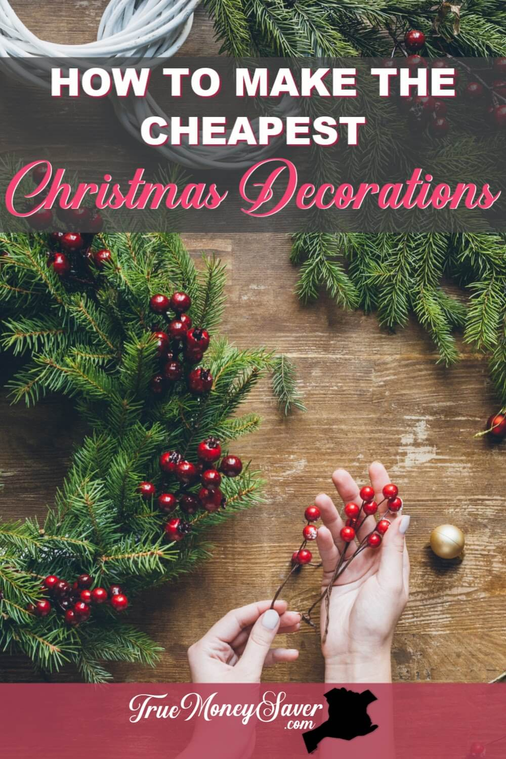 If your home needs some holiday spirit, start with these easy DIY Christmas decoration crafts! I\'ll show you how to make cheap DIY Christmas decorations that are super easy to make. Plus, these Christmas decorations for the home on a budget won\'t break the bank!