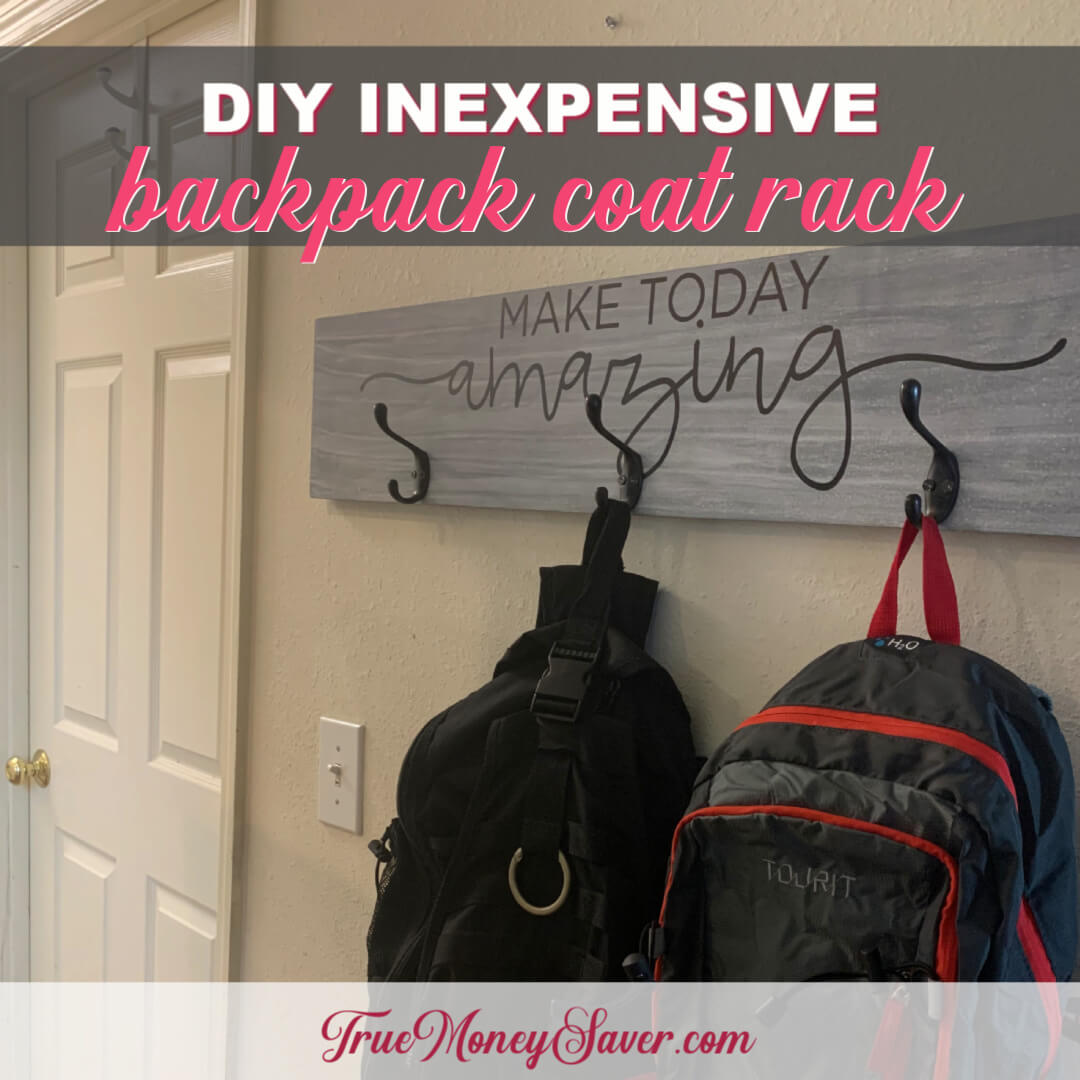 How To Make An Inexpensive DIY Rustic Coat Rack With Hooks