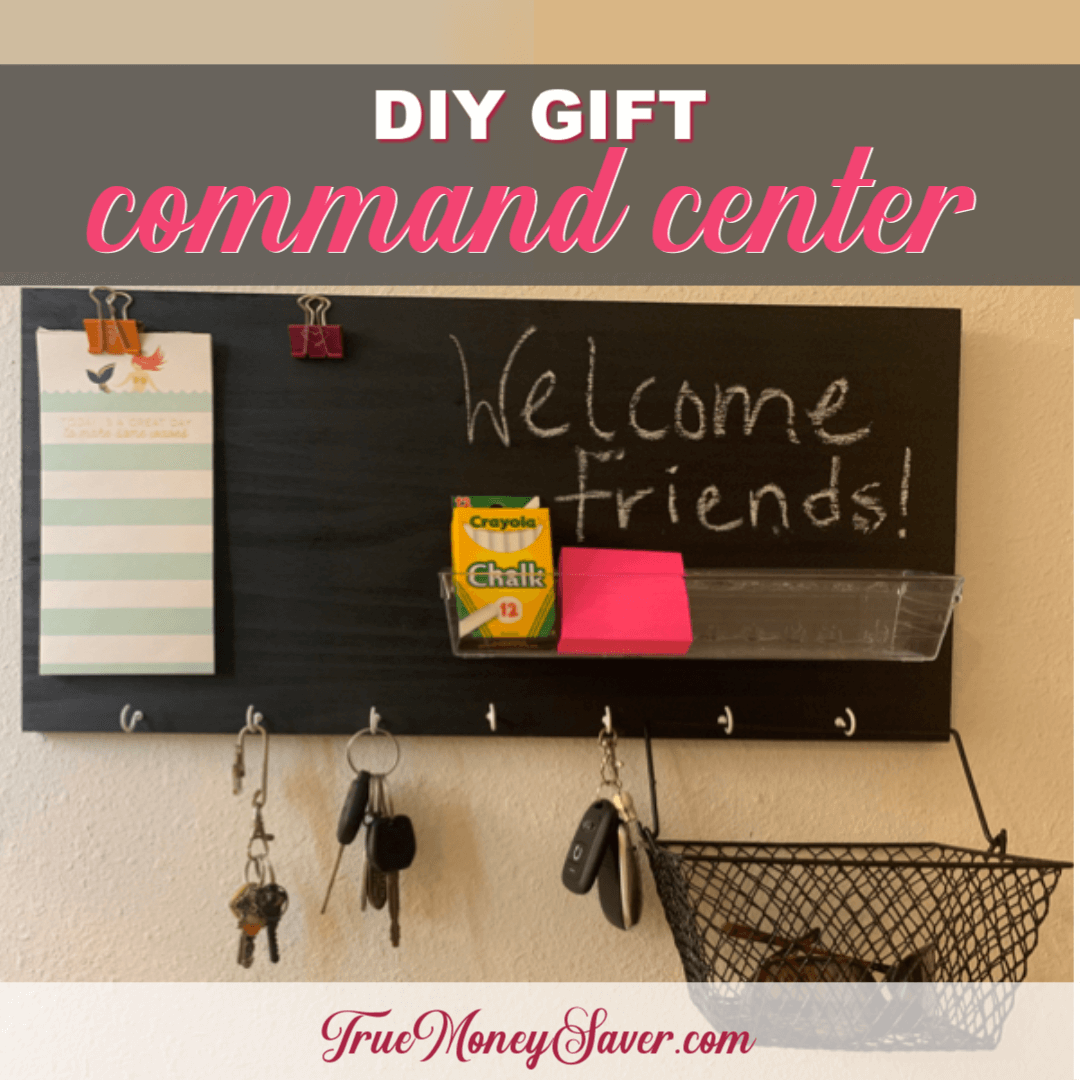 How To Make The Easiest Family Command Center {Homemade Christmas DIY Gift #1}