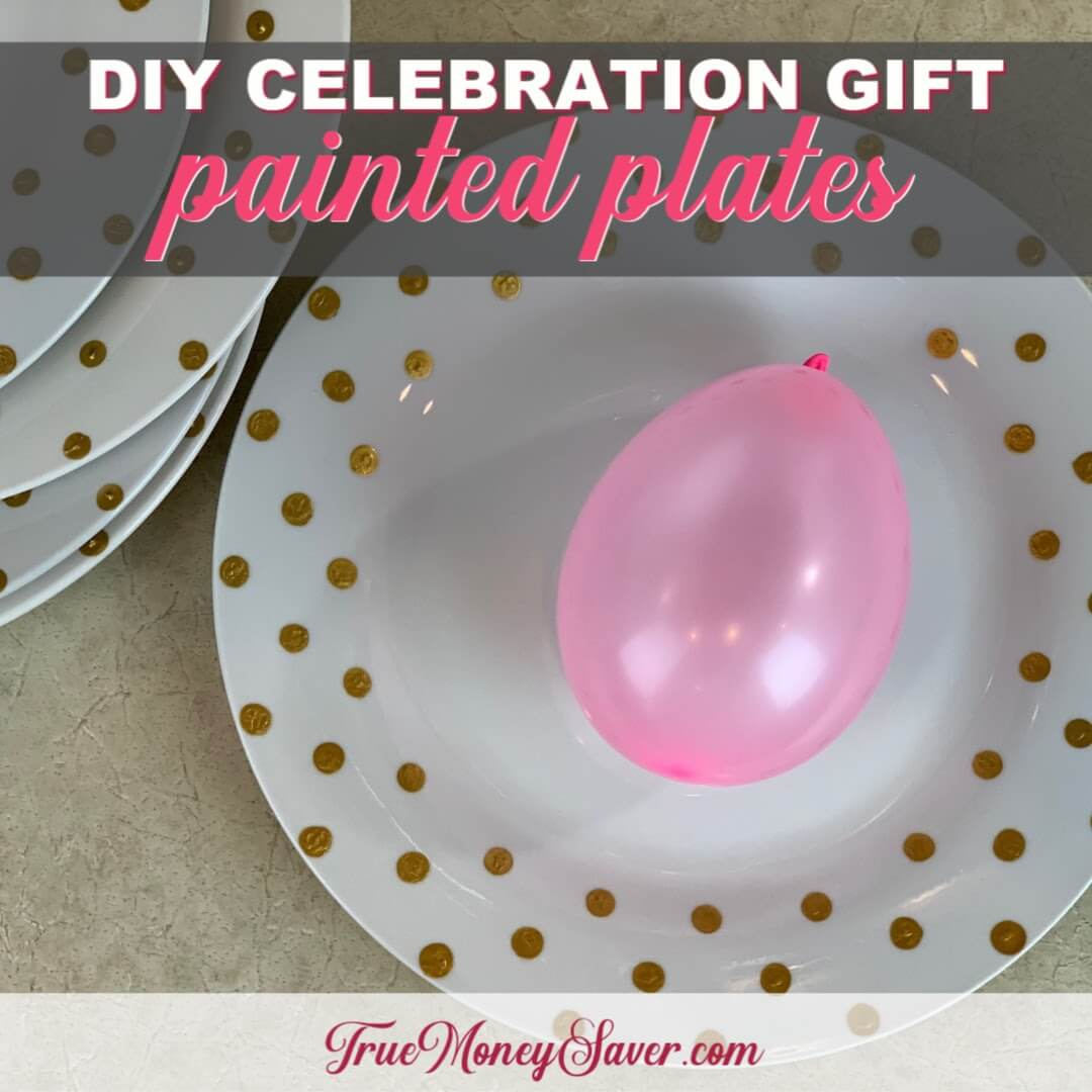 Painting Plates To Make The Best Celebration Gift {Homemade Christmas DIY Gift #3}