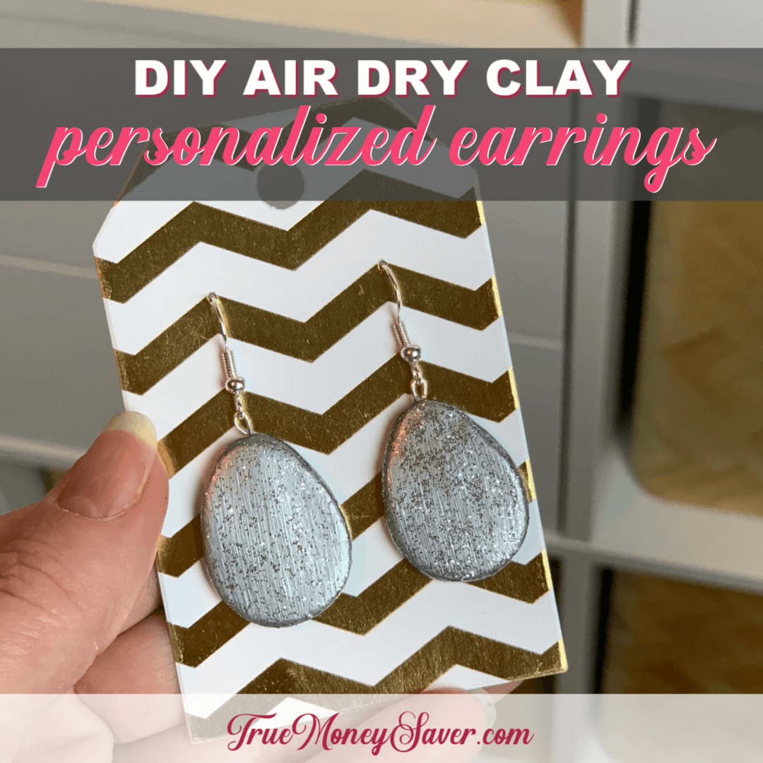 How To Make Earrings Easily From Air Dry Clay {Homemade Christmas DIY Gift #14}