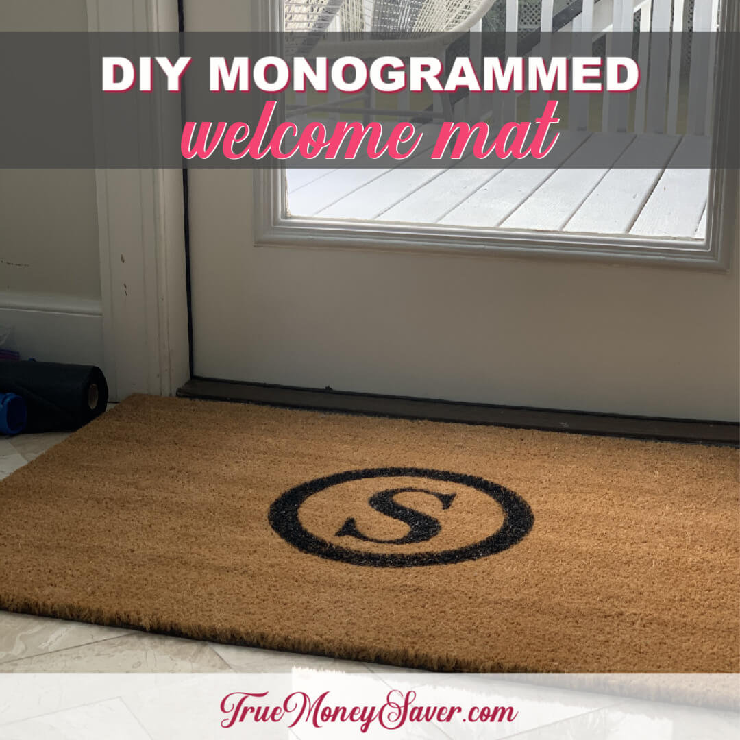 How To Make The Cutest Monogrammed Welcome Mat {Homemade Christmas DIY Gift #26}