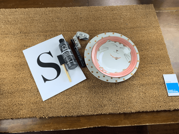 Diy Monogrammed Welcome Mat