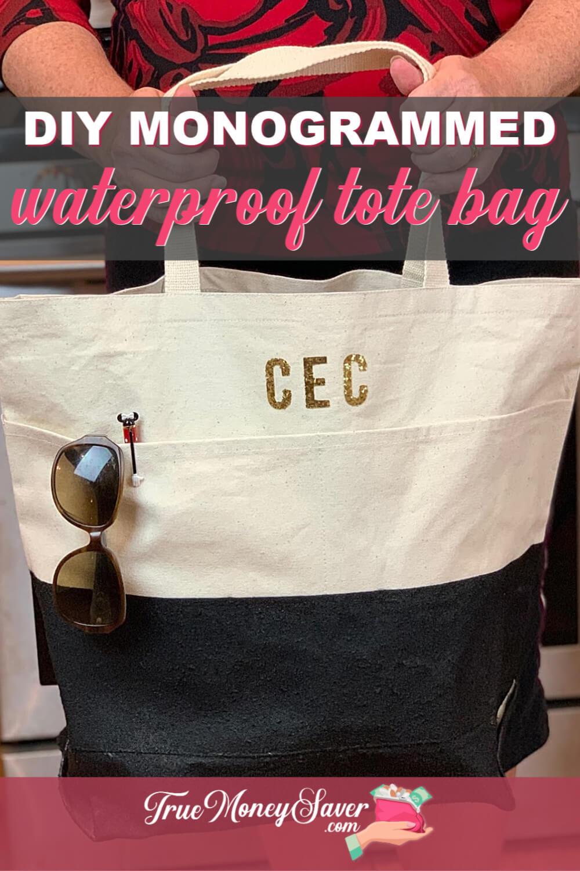 How To Make A Monogrammed Waterproof Tote Bag