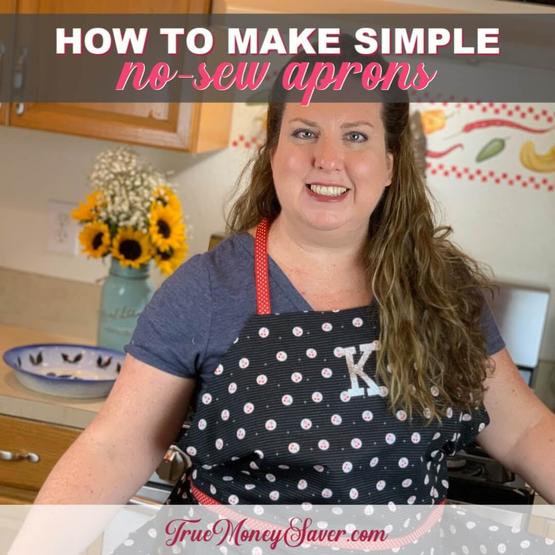 How To Make Simple Aprons Without Sewing {Homemade Christmas DIY Gift #21}