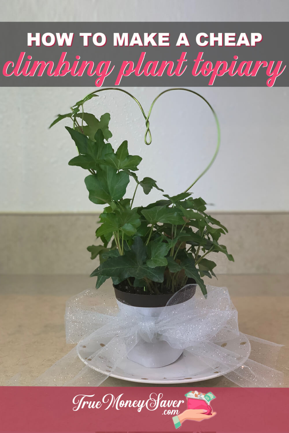 If you are looking for a green gift, look no further! This  DIY Indoor Topiary Plant Gift is the best gift this year! I\'ll show you how to make an indoor topiary and some more DIY topiary ideas for giving! These topiary gifts are going to be a big hit! Let\'s get started! 
