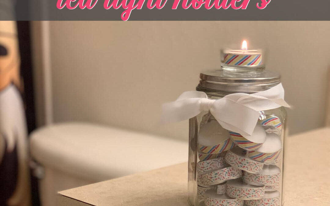 How To Make Surprisingly Easy Tea Light Holders {Homemade Christmas DIY Gift #23}