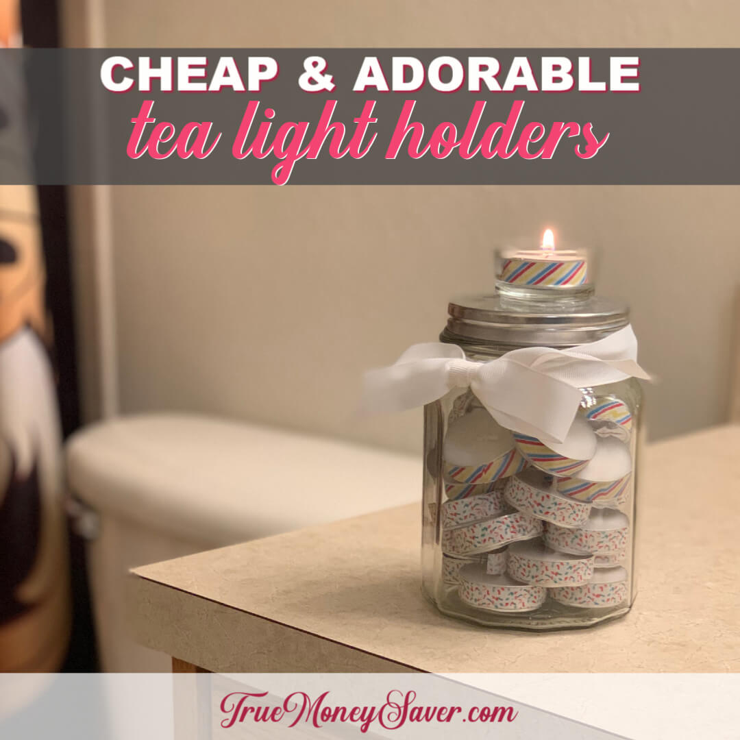 How To Make Surprisingly Easy Tea Light Holders