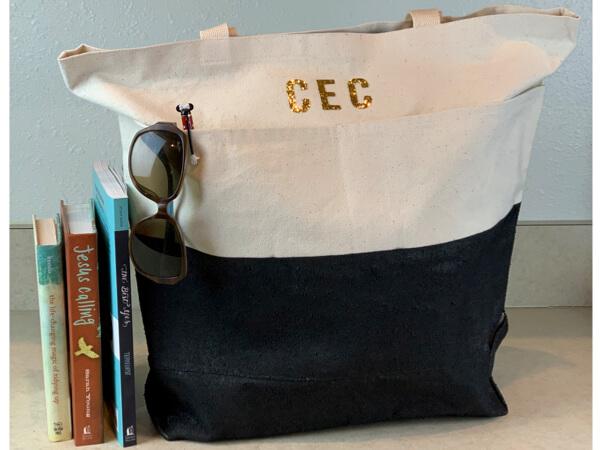 DIY canvas tote bag project
