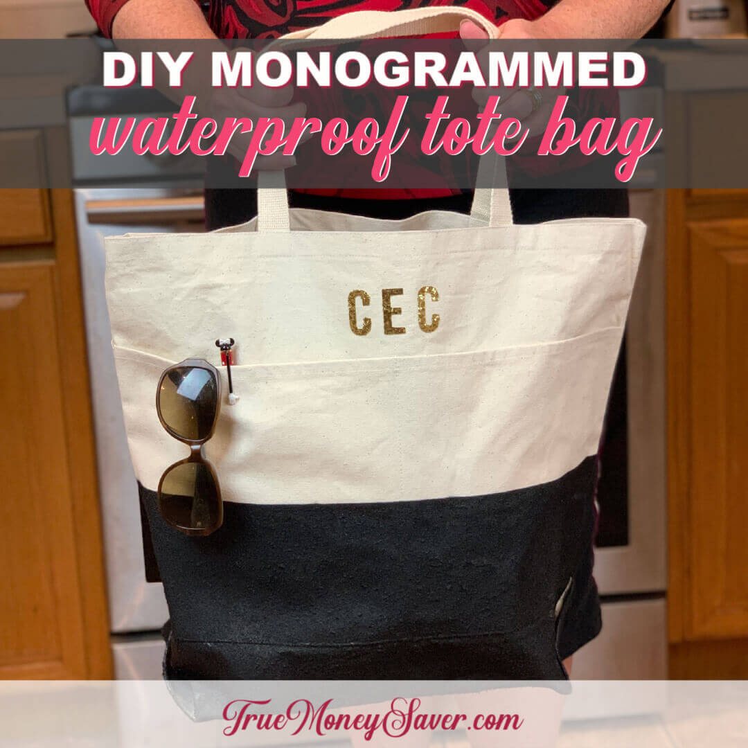 How To Make A Monogrammed Waterproof Tote Bag