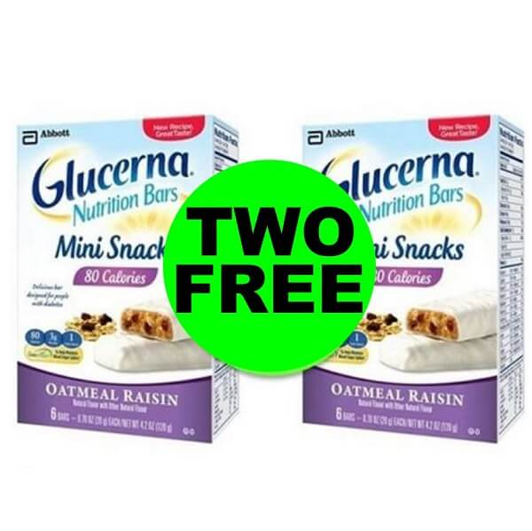 Sneak Peek CVS Deal: (2) FREE Glucerna Snack Bars! (1/19-1/25)