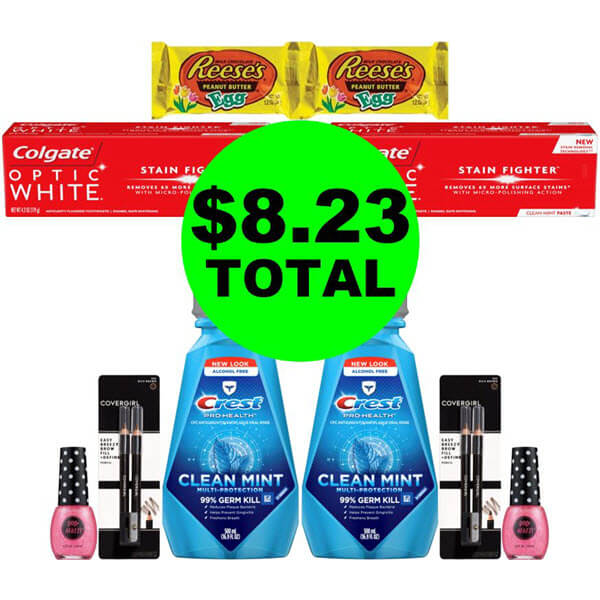 CVS Deal Idea: For $8.23 Total, Get (4) Oral Care, (4) Cosmetics & (2) Candies! (3/29-4/4)