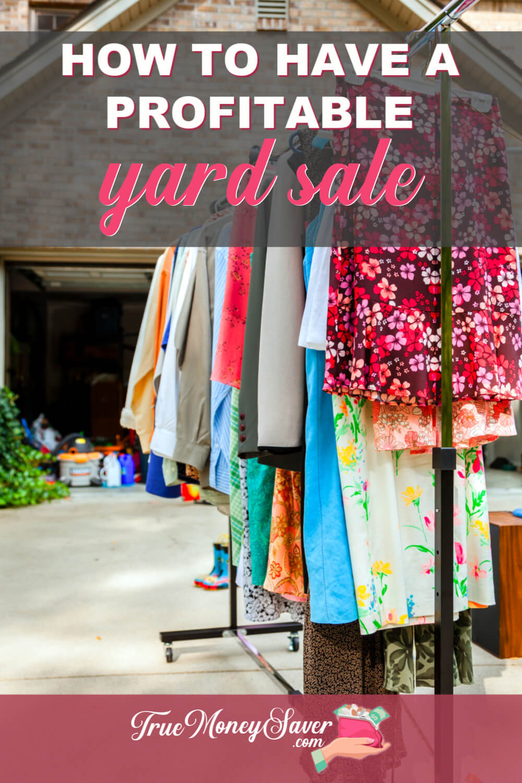 yard sale prep
