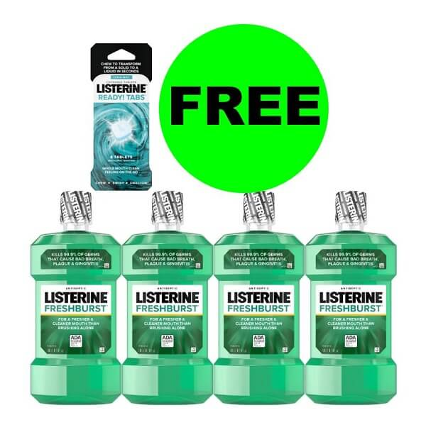 Sneak Peek CVS Deal: (4) FREE + $2 Money Maker On Listerine Products (After Rewards)! (614-6/20)